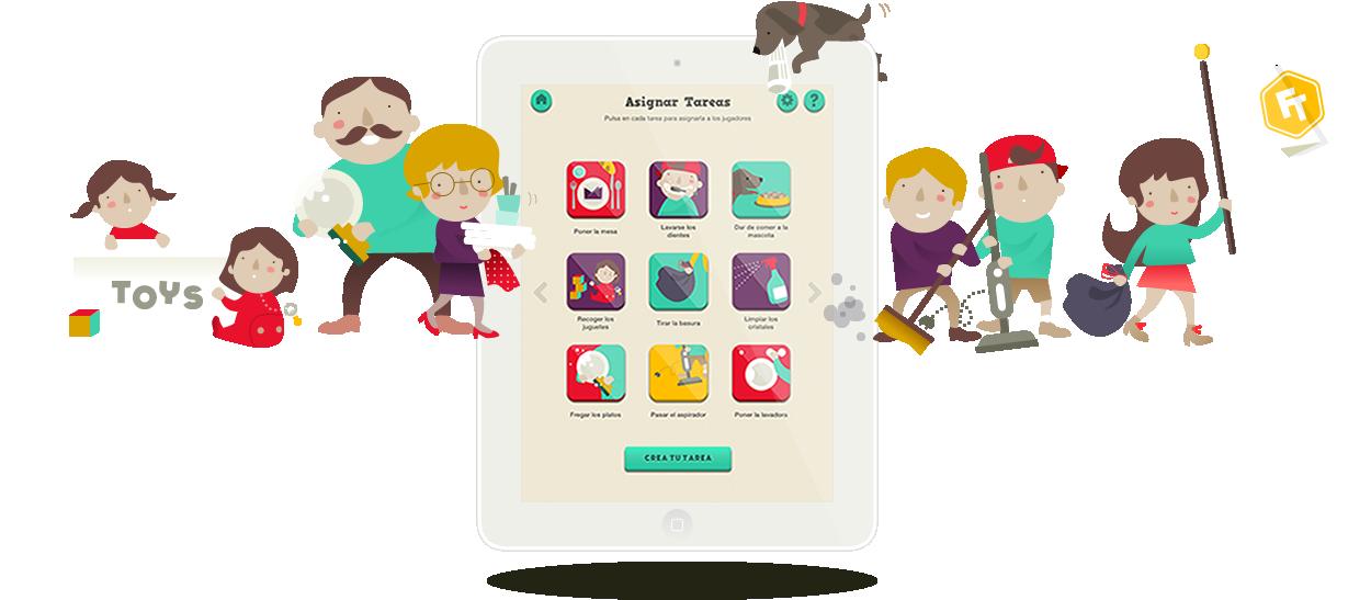 Family team la aplicaci n que convierte las tareas de - Juegos de recoger casas ...