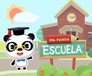 banner Dr. Panda Escuela